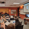 Freelance Article Writing students video chat with writer Joyce Chen