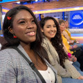 Students attend a taping of Good Morning America