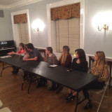From left to right: Lindsay Sullivan, Melissa Rosenthal, Andrew Brinster, Katie Rodenhiser, Jessica Summers, Olivia Armstr...