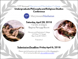 10th Annual Philosophy and Religious Studies