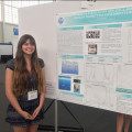 Rosie Wenrich, a junior Biology major, presents at the Mid-Atlantic Regional Meeting of the Ameri...