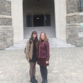 Senior Rosie Wenrich with her mentor, Prof. Alessandra Leri, at Fordham University.