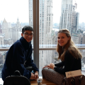 Biology majors Brandon Tran '20 and Julia Furnari '20 at the New York Academy of Sciences