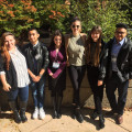 Biology majors at the Undergraduate Research Symposium in the Chemical and Biological Sciences at...
