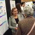 Marisa Dunigan '15 presents her research poster at the NERMACS conference in Ithaca, NY.