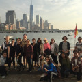 NYC 103 students at the River Project at Pier 40 on the Hudson River.