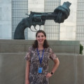 Senior Alexis Keller at the U.N.