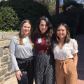 Biology majors Julia Furnari, Marjan Khan, and Ashley Pavia at ECSC 2019