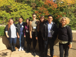 Biology majors with Prof. Ann Aguanno at the Undergraduate Research Symposium in the Chemical and Biological Sciences at t...