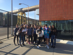 NYC 103 students visit the Newtown Creek Wastewater Treatment Plant.