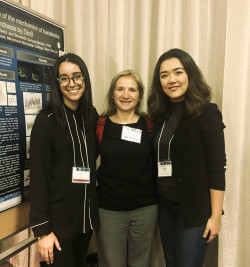 Tracy Tauro and Eleanor Leong with Dr. Benedetta Sampoli Benitez at UMBC