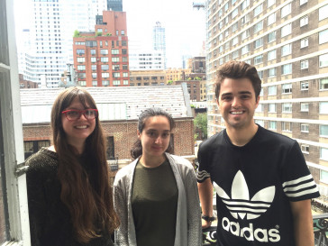 Leri Research Group Summer 2017. Left to right: Rosie Wenrich, Marjan Khan, Coleman Spence.