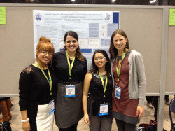 Presenting with MMC CSD students at the ASHA Convention 2013. (from L to R: L. Sevilla, S. Kienemund, O.Centeno)
