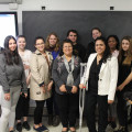 Students in Prof. Kazi Rahman's Diplomacy and Multiculturalism class pose for ...