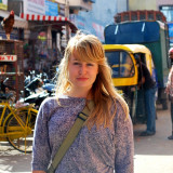 Katie Sives '13 in India