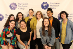 Social Science Students pose with Alison Giffen