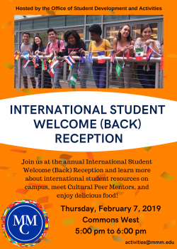 International Student Welcome (Back) Reception!