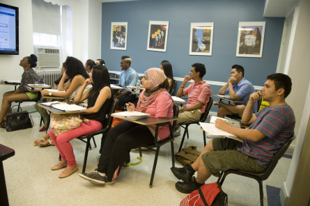 Students learn about historical research in Prof. Mary Brown's HIST 103 course