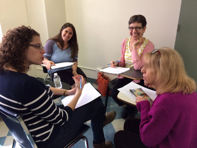 MMC faculty members brainstorm about academic programs at an Innovation Team Workshop in early October.