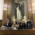 "Students on ""the bench"" in the Hon. Melissa C. Jackson's trial part in NYS Suprem..."