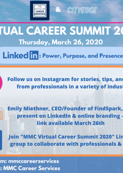 The Virtual Career Summit 2020 will be a three part event: LinkedIn group, Video presentation by ...