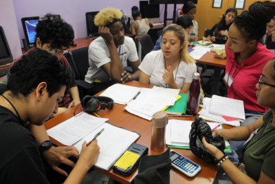 Students work in the HEOP center