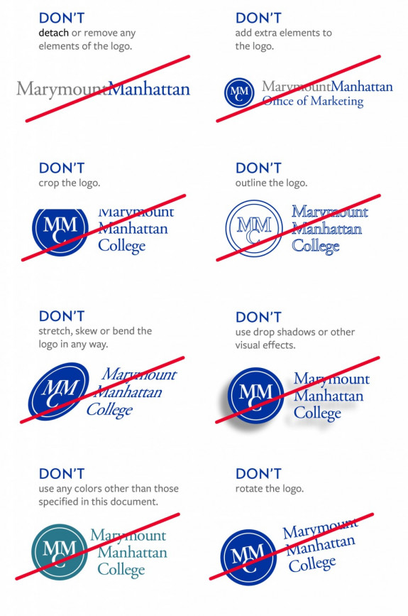 Do's and Don'ts of MMC Logo Usage