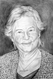 Barbara Novak, art historian (portrait by Phong Bui)