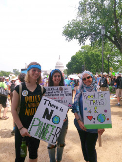 MMC students at the 2017 Climate March in Washington, D.C.