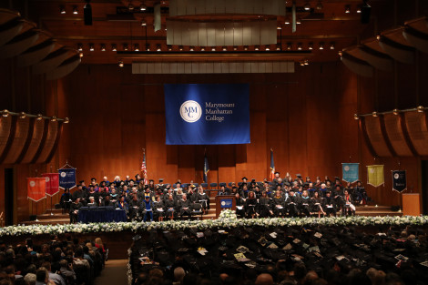 Commencement at David Geffen Hall, Lincoln Center