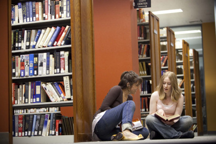 Students Get Busy in the Shanahan Library
