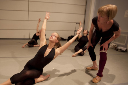 Dance professor Nancy Lushington at work