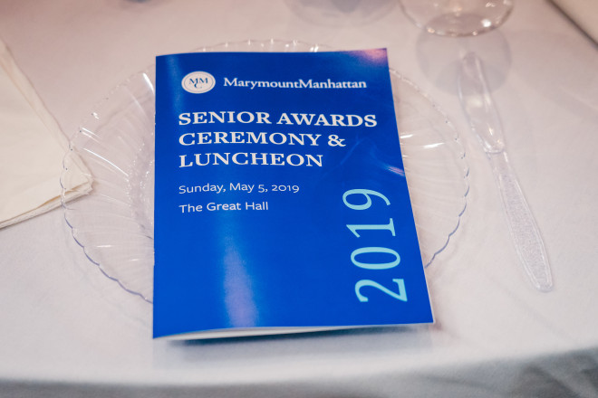 The 2019 Senior Awards ceremony at Marymount Manhattan College