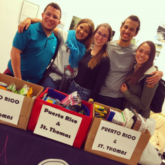 MMC Students man the donation table in Carson Hall