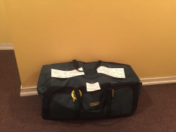 One of the four suitcases that were brought to PR and the USVI