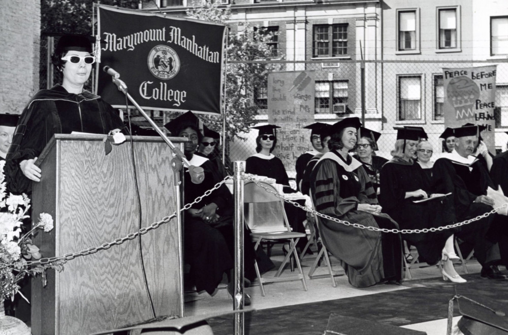 Dr. Klein conferring degrees at Commencement 1972