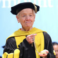 Sister Brigid Driscoll '54, President Emerita of Marymount College, Tarrytown, participating in t...
