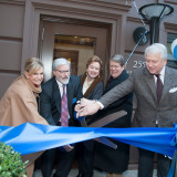 Congresswoman Carolyn Maloney joins President Shaver, benefactors Judy and Russ Carson and Board Chair Jim Buckman for Fac...