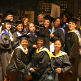 Bedford Hills College Program Class of 2009,  along with President Shaver