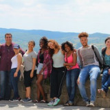 MMC Professor Peter Naccarato and MMC students in Tuscany for their class trip.