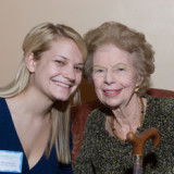 Millicent Clarkson, recipient of the Theresa Lang Scholarship,  and Theresa Lang at the 2007 Scholarship Reception.