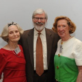 President Judson R. Shaver, Ph.D., presented Elizabeth Hayes '52 (right) with the Père Gailhac Award and Marjorie Ihrig â...