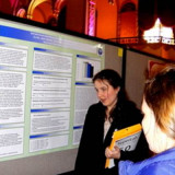 Emilie Maurer presented her research to interested listeners.