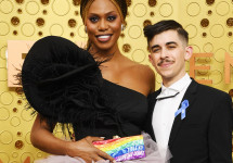 Laverne Cox and Chase Strangio (Getty Images)