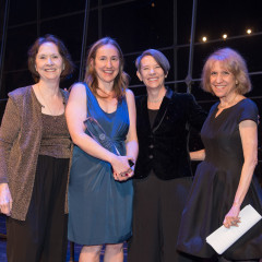 Honoree Diana Nash, Amy Nash, President Kerry Walk, and Ann Jablon, Ph.D.