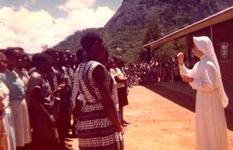 In 1956, Sr. Margaret taught students in Zimbabwe.