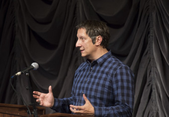 Acclaimed theatre artist Robert Lepage presented the 2014 Jack and Lewis Rudin Distinguished Visi...