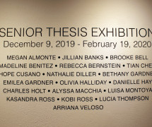 FA19 Senior Thesis Exhibition Opening Reception
