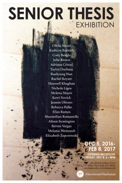 Senior Thesis Art Exhibition 2016