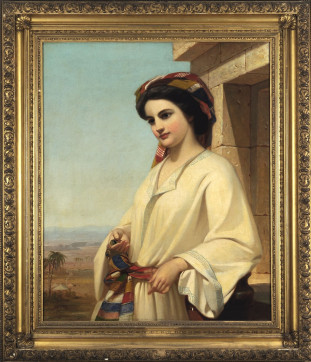 """Rebecca at the Well"" by Thomas Prichard Rossiter (1852), chosen by Quituisaca '17, is part..."